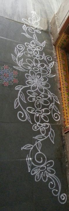 Rangoli Borders, Rangoli Border Designs, Colorful Rangoli Designs, Rangoli Designs Images, Rangoli Designs Diwali, Kolam Rangoli, Flower Rangoli, Rangoli With Dots, Simple Rangoli