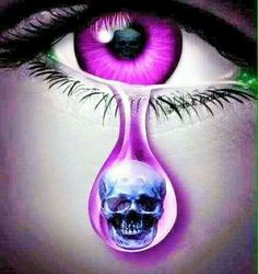 Shared by C R I S T A L♚. Find images and videos about eyes, purple and skull on We Heart It - the app to get lost in what you love. Eyes Artwork, Skull Artwork, Dark Fantasy Art, Dark Art, Los Muertos Tattoo, Totenkopf Tattoos, Skull Pictures, Bild Tattoos, Chicano Art