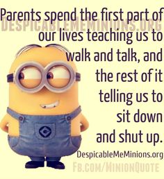 Parents spend the first part of our lives...