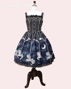 Innocent World ★ Midnight Merry-Go-Round Lame Lace Jumperskirt