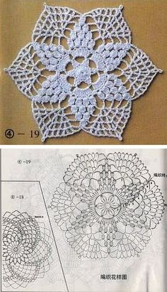 Six-pointed star doily   . . . .   ღTrish W ~ http://www.pinterest.com/trishw/  . . . .   #crochet: