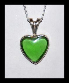 Moldavite Heart Pendant by manwithashadow.deviantart.com
