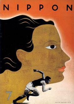 "Modernist Japanese art -- Cover of ""Nippon"" magazine issue #7, June 1936"