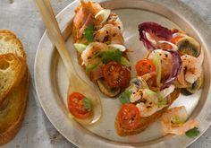 Caribbean Shrimp Bruschetta -- a perfect Mrs. Dash recipe - mrsdash.com #saltsubstitute #nosalt #bruschetta