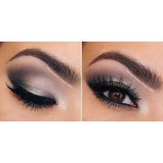 Black and white eyeshadow ❤ liked on Polyvore featuring beauty products, makeup, eye makeup, eyeshadow, eyes and eye shadow