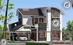 Contemporary Modern Floor Plans | 90+ Double Storey Duplex Designs Two Storey House Plans, 2 Storey House Design, Duplex House Design, House Front Design, Small House Design, Plan Duplex, Duplex House Plans, House Plans With Pictures, House Design Pictures