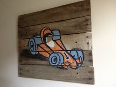 Race Car 20x20Rustic Wall Art paintingracing by RusticTreeHouse, $67.00