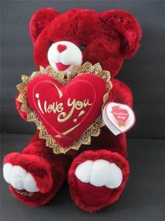 "20"" Dan Dee Teddy Bear Valentine  Soft Plush Stuffed Animal ~Sweetheart Love"