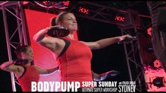 Les Mills BODYPUMP® 86 at Super Sunday 2013 If you have a gym where you can take a body pump class I highly recommend it.  It is AMAZING, and you will have results!!  I love Body Pump.