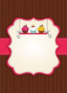 Food Backgrounds, Flower Backgrounds, Logo Doce, Cupcake Logo, Cake Logo Design, Makeup Artist Logo, Etiquette Vintage, Diy Crafts To Do, Bakery Logo