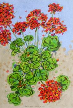 geraniums by Federico Cortese on ARTwanted