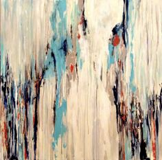 "Abstract painting by Jill Pumpelly - ""Pedestal"""