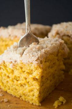My favorite Pumpkin Crumb Cake is a classic fall coffee cake enriched with pumpkin and perfectly spiced. It's a holiday breakfast tradition in our house!