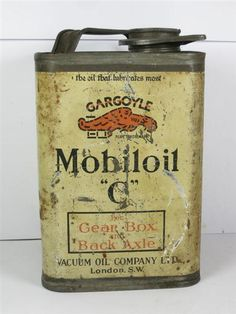 vintage labels MOBILOIL