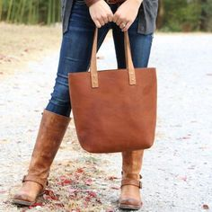 Personalized Womens Fine Leather Tote Handbag Purse Bag - The Ashley The Leather Ashley Tote is our first tote bag and is made right here in our shop with the finest of Full Grain American leathers. Add your name or initials to personalize! Material: Full Gra