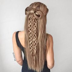 Yet another half up with one of my favorite braids and a