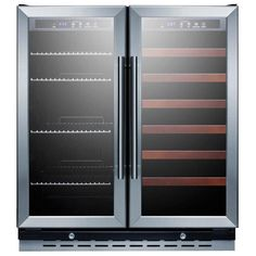 summit 30inch 58 cu ft dual zone beverage stainless steel black cabinet swbv3067
