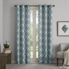 Found it at Joss & Main - Haley Geometric Print Semi-Opaque Grommet Curtain Panel Pair