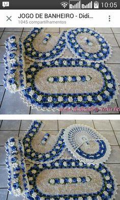 Jb Crochet Art, Crochet Home, Crochet Doilies, Crochet Flowers, Crochet Patterns, Cozy Apartment Decor, Summer Patterns, Bathroom Sets, Decor Crafts
