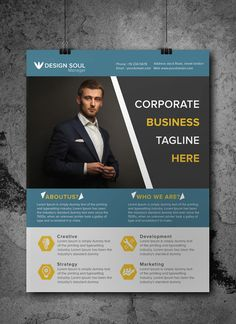Superb Free Corporate Business Flyer PSD Template  Business Pamphlet Templates Free