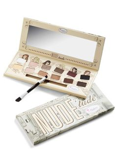 theBalm Natural Instincts Eyeshadow Palette, #ModCloth 35 dollars. basic eyeshadows like the Naked basics palette. reviews are good