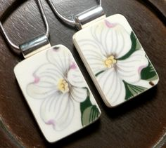 TWO Friendship Recycled Broken China Necklaces  DOGWOOD. $50.00, via Etsy.