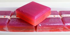 Luxury four layer glycerin Valentine's square by HancoxHomestead, $8.00
