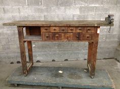 Vintage Eleven Drawer Work Bench | Second Use, Seattle: Building Materials, Salvage, & Deconstruction