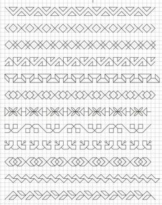 45 Super Cool Doodle Ideas Get your doodle inspiration idea here with 45 cool and easy doodle ideas for sketchbooks, bullet journals, and definitely when you're taking notes. Motifs Blackwork, Blackwork Cross Stitch, Blackwork Embroidery, Graph Paper Drawings, Graph Paper Art, Doodle Drawings, Cool Doodles, Simple Doodles, Doodle Patterns