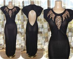 Vintage 80s Dress | 1980s Sexy Dress | Open Back | Sheer Lace & Sequins | Stretch Body Con | Zum Zum | Size 11 M/L | TLC by IntrigueU4Ever on Etsy