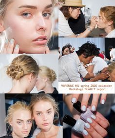 Backstage Beauty report at Vivienne Hu Spring-Summer 2016 collection | Vivienne Hu Spring-Summer 2016 collection Runway show #NYFW | http://www.vitalagibalow.com