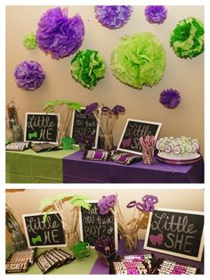 Purple and Green Gender Reveal