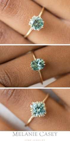 Engagement Rings Green Sapphire Engagement Rings by Melanie Casey Jewelry - Gree . - Engagement Rings Green Sapphire Engagement Rings by Melanie Casey Jewelry – Green Sapphire Engage - Green Sapphire Engagement Ring, Engagement Ring Settings, Vintage Engagement Rings, Engagement Rings Gold Yellow, Green Sapphire Ring, Tiffany Engagement, Sapphire Solitaire Ring, Popular Engagement Rings, Gemstone Engagement Rings