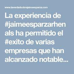 La experiencia de #jaimeesparzarhenals ha permitido el #exito de varias empresas que han alcanzado notables logros en el ejercicio de #juegosdeazarencolombia