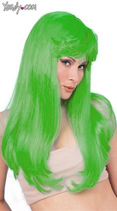 //images8.yandy.com/Products/Sassy-Lass- · Green WigTeal GreenSeattle SeahawksWigsHalloween ...  sc 1 st  Pinterest & Glamour Wig long straight fashion hair synthetic dressup TV party ...