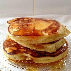 Deilige lapper/amerikanske panekaker Pancakes, Breakfast, Food, Morning Coffee, Essen, Pancake, Meals, Yemek, Eten