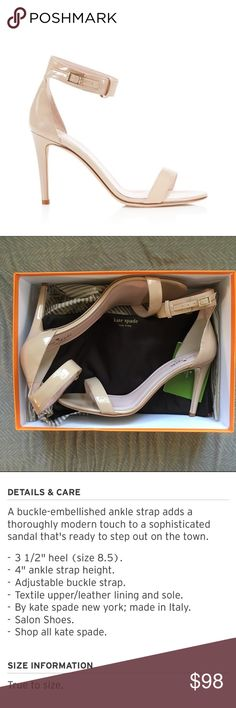 Kate Spade•Elsa Nude Ankle Strap Sandal BNWB! Runs true to size! Customers rate this shoe a 4.5/5 stars via Bloomingdales AND Nordstrom! Currently retails for $298! kate spade Shoes Heels