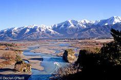 Rakaia River, New Zealand Places To Travel, Places To See, New Zealand Landscape, New Zealand Houses, Auckland New Zealand, New Zealand Travel, Environment Design, South Island, British Isles