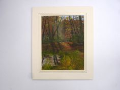 1970s Signed D Dashwood Vintage Oil Painting Autumn in the New Forest Hampshire Vintage Art Vintage Landscape Vintage Woodland Painting by FillyGumbo
