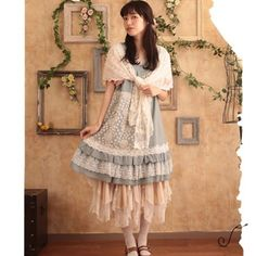 Forest Mori Girl 2016 Women Floral Pattern Embroider Classic Lace Dress Japanese Style Lolita School Wear Mori Girl Dresses T002