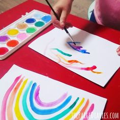 How to Introduce Water Colour Painting to Toddlers – The Paige Diaries Kids Watercolor, Watercolor Pictures, Watercolor Paintings, Watercolour, Ice Painting, Painting For Kids, Drawing For Kids, Painting Activities, Color Activities