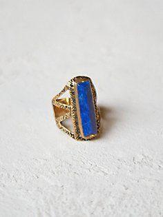 Chevron Stone Ring