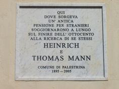 In 1895 ging Thomas met zijn broer Heinrich naar italië; zij woonden een tijdlang in het dorpje Palestrina