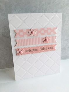 I'm in Haven: Baby Cards! The embossed background makes it look like a quilt! Nice touch..