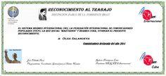 Reconocimientos 2014:  Olga Salanueva Distinción Pablo de la Torriente Brau