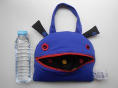 Zé Snackglutton funny snack bag or handbag for cute by Zezling