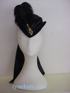 Victorian Riding Hats | victorian hat maker home black net tiny riding hat riding hat with ...