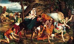 Jacopo Bassano (1510-1592): Huida a Egipto, 15545.