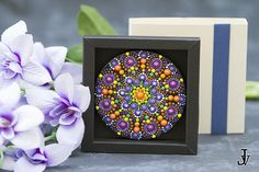 Mandala Dot Art fridge magnet home decor acrylic paint