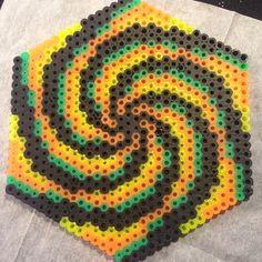 Vortex perler bead design by Katie Binesh Hama Beads Design, Diy Perler Beads, Perler Bead Art, Pearler Beads, Fuse Beads, Pearler Bead Patterns, Perler Patterns, Pixel Art, Iron Beads